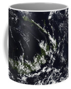 A Volcanic Plume From The Rabaul Coffee Mug by Stocktrek Images