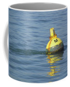 A Water Buoy In The Blue Water Of San Francisco Bay Coffee Mug