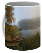 A Weathered Rowboat On The Shore Coffee Mug