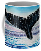 A Whale And A Violet Sunset Coffee Mug
