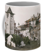 A White Bell Tower Stands Bright Coffee Mug by Maynard Owen Williams