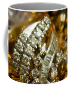 A White Gold Bracelet Among Other Yellow Gold Jewellery Coffee Mug