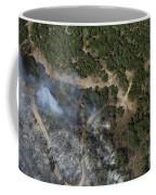 A Wildfire Burns Land Near Austin Coffee Mug