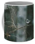 A Willow Tit Parus Montanus Perches Coffee Mug