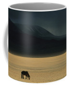 A Winter Storm Rolls In Over A Horse Coffee Mug
