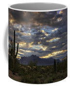 A Winter Sunrise In The Desert  Coffee Mug