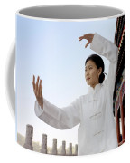 A Woman In Her 20s To 30s Doing Coffee Mug by Justin Guariglia