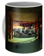 A Woman Spys From The Shadows Coffee Mug