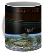 A Woman Studies The World Coffee Mug by Frieso Hoevelkamp