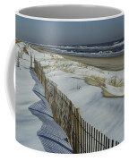 A Wooden Fence Casts A Shadow Coffee Mug
