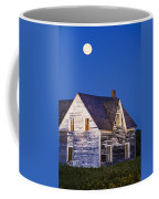 Abandoned House And Moon At Dusk Coffee Mug