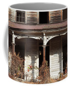 Abandoned House Facade Rusty Porch Roof Coffee Mug