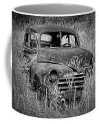Abandoned Vintage Car Along The Roadside Coffee Mug