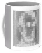 Abe In Negative Black And Grey Coffee Mug