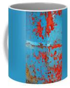 Abstrac Texture Of The Paint Peeling Iron Drum Coffee Mug