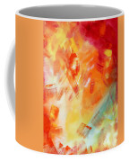 Abstract Art Colorful Bright Pastels Original Painting Spring Is Here I By Madart Coffee Mug by Megan Duncanson