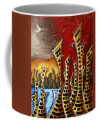 Abstract Art Contemporary Coastal Cityscape 3 Of 3 Capturing The Heart Of The City II By Madart Coffee Mug