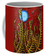 Abstract Art Contemporary Coastal Cityscape 3 Of 3 Capturing The Heart Of The City IIi By Madart Coffee Mug