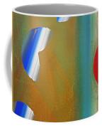 Abstract Blue With Red Sun Coffee Mug