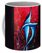 Abstract Calla Lilly Textured Painting Greeting Lillies By Madart Coffee Mug by Megan Duncanson