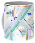 Abstract Flying Objects Coffee Mug
