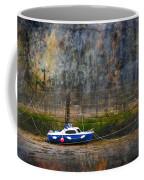 Abstract Harbour And Boat Coffee Mug by Svetlana Sewell