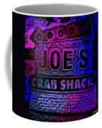 Abstract Joe's Crabshack Sign Coffee Mug