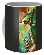 Abstract Martini Cityscape Contemporary Original Painting Martini Hour By Madart Coffee Mug