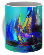 Abstract Regatta Coffee Mug