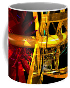Abstract Tan 12 Imaginary Engine Coffee Mug