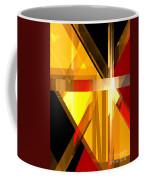 Abstract Tan 5 Coffee Mug