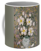Abstract Wild Roses Heavy Impasto Coffee Mug