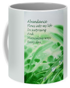 Abundance Affirmation Coffee Mug