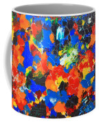 Acrylic Abstract Upon Wood Coffee Mug
