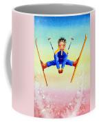 Aerial Skier 17 Coffee Mug by Hanne Lore Koehler