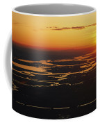 Aerial Sunset Of The Suisun Slough Coffee Mug