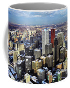 Aerial View From Cn Tower Toronto Ontario Canada Coffee Mug