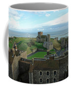 Aerial View Of Dover Castle Coffee Mug