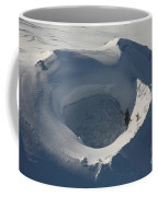 Aerial View Of Frozen Lake In Summit Coffee Mug by Richard Roscoe