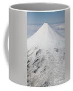 Aerial View Of Glaciated Shishaldin Coffee Mug by Richard Roscoe