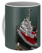 Aerial View Of Red Tug  Coffee Mug