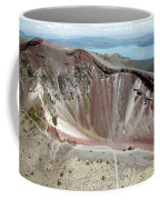 Aerial View Of Rhyolite Dome Complex Coffee Mug by Richard Roscoe