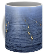 Aerial View Of Ships In Formation Coffee Mug