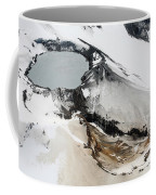 Aerial View Of Snow-covered Ruapehu Coffee Mug