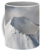 Aerial View Of Summit Of Shishaldin Coffee Mug by Richard Roscoe