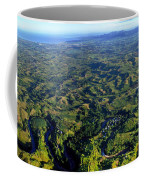 Aerial View Of The Nadi River Winding Coffee Mug