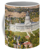 Aerial View Of Utah State Capitol Building Coffee Mug by Gary Whitton