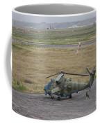 Afghan Army Soldiers Guard An Mi-35 Coffee Mug