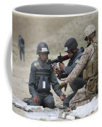 Afghan Police Students Assemble A Rpg-7 Coffee Mug by Terry Moore
