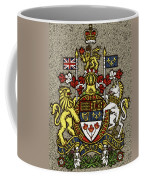 Aged And Cracked Canada Coat Of Arms Coffee Mug